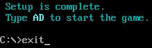 Exit DOS command