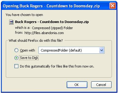 Saving Buck Rogers zip file