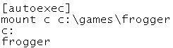 Autoexec mount commands