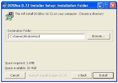 Dosbox installer program