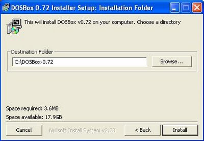 Dosbox installtion program
