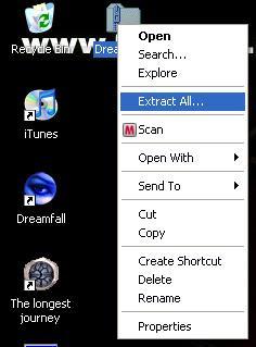 Extracting DreamWeb zip file
