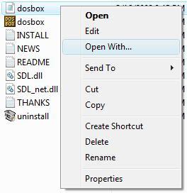 Editing the Dosbox config file