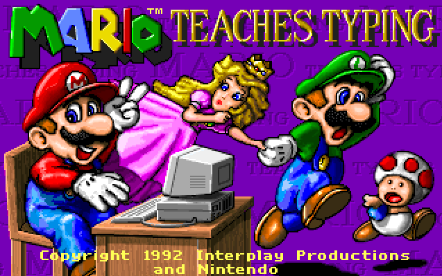 Directory and the game mario teaches typing will begin have fun