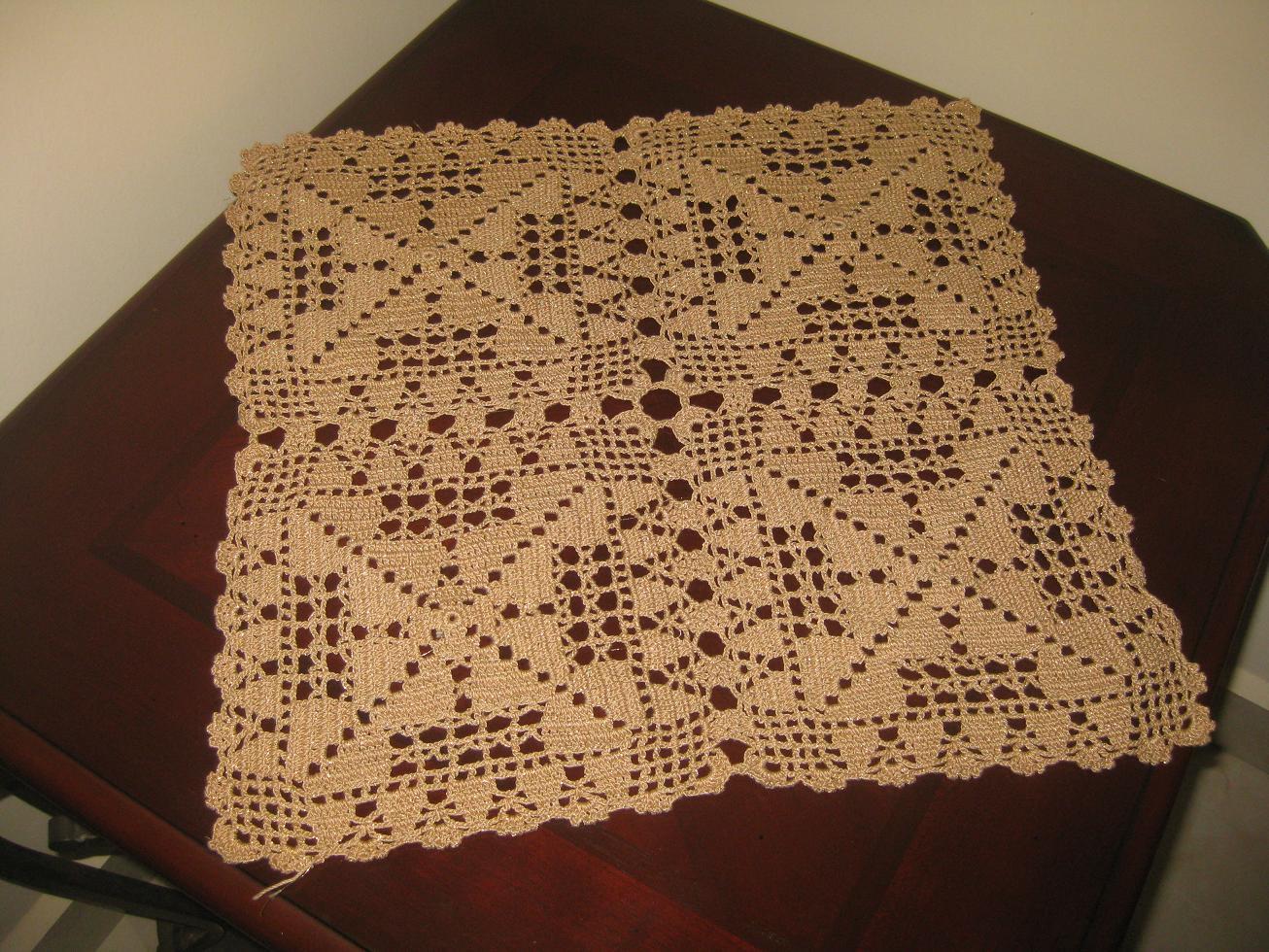 El Crochet  Estoy Tejiendo Estas Carpetas Para El Juego De Mesas De