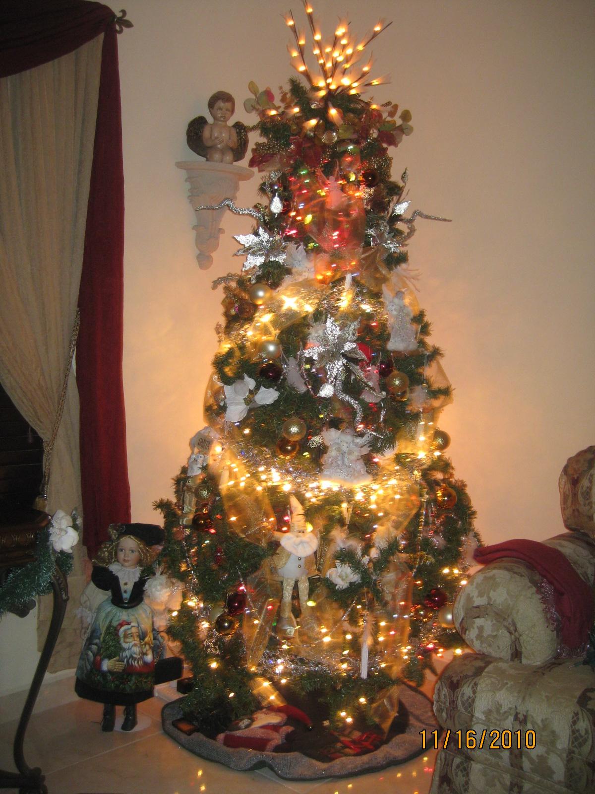 Mis tejidos y algo mas arbol de navidad 2010 - Como poner el arbol de navidad ...