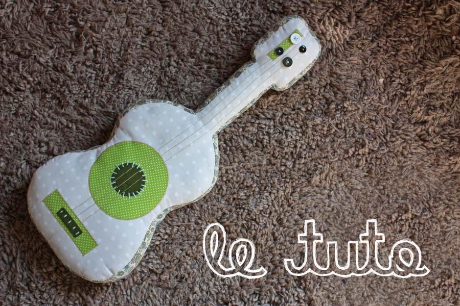 Guitare en tissu - Comment faire un coussin capitonne ...