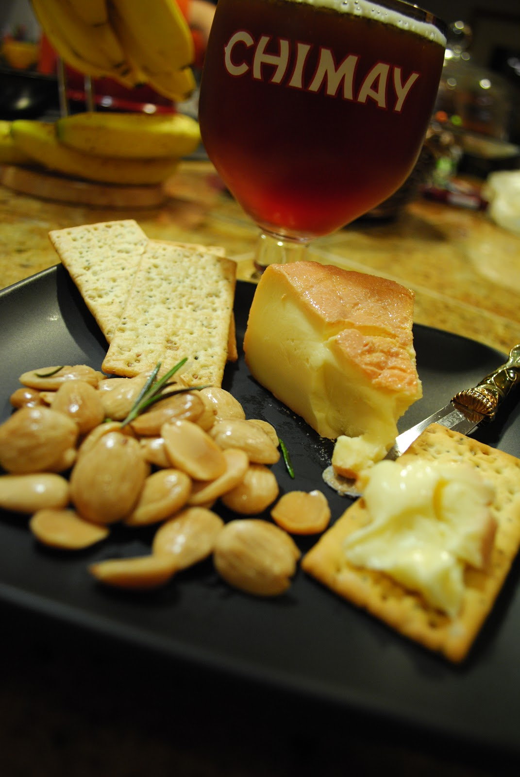 Thanksgiving Appetizer Beer And Cheese Plate The