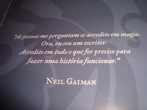 Frase sobre magia de Neil Gaiman