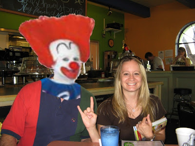 Kami and clown