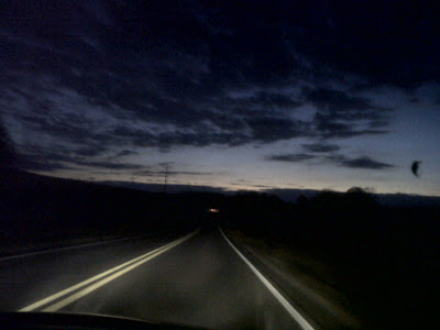 dark country highway