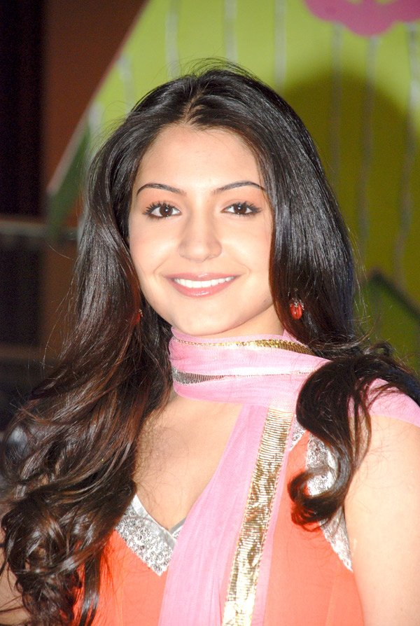 Anushka Sharma in a Sleevleless orange Coloured Churidaar Shirt Salwar