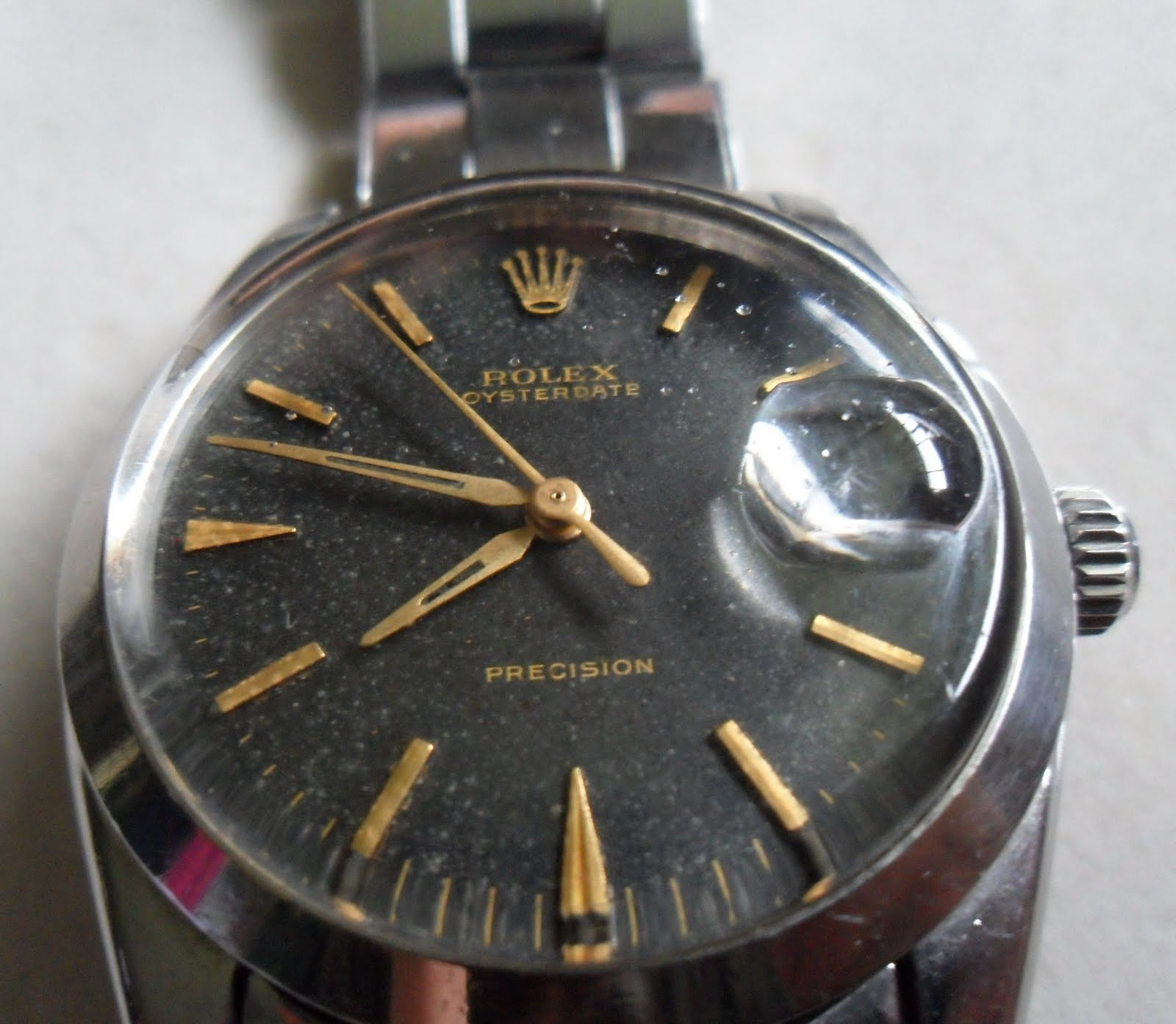 Jual Jam Rolex Gold Original Welcome To Tangan Pria Expedition 6631 Black Yellow Triple Time Precision Dial Diamond Shape Hands And Indexes Winding