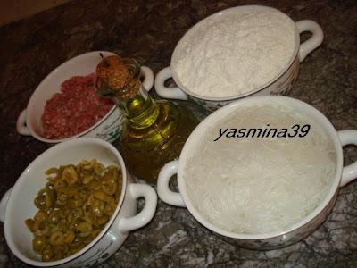 M'ssamen ou Mssamman marocain farci à la viande hachée et vermicelle Yasmina18