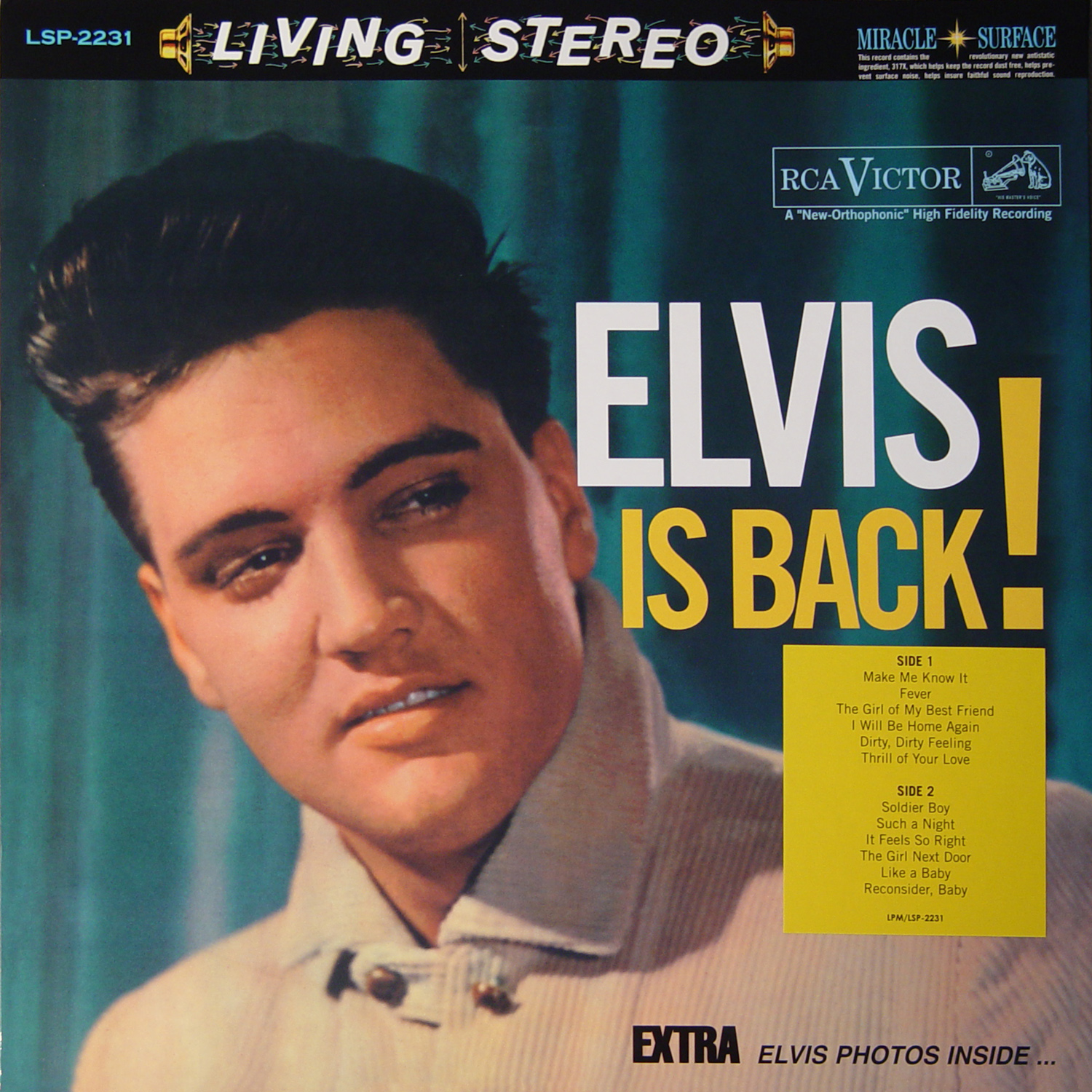 Elvis presley elvis is back rca victor records 1960 sacd