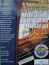 """MARATÓN LITERARIO-MUSICAL """"MARCHA MUNDIAL POR LA PAZ Y LA NO-VIOLENCIA"""" Y MUNDO SIN GUERRAS"""
