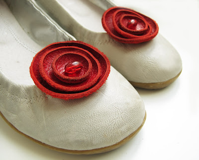 Bridal Shoe Clips on Katrinshine  New Leather Shoe Clips