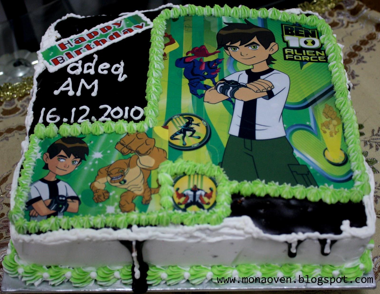 Monas Oven Ben 10 Birthday Cake