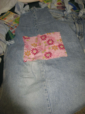 Upcycling Jeans class supplies