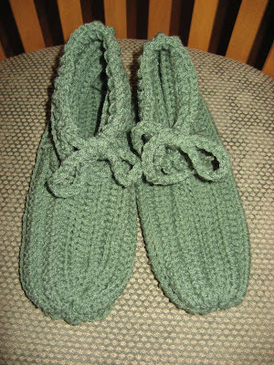 Cozy Crocheted Slippers