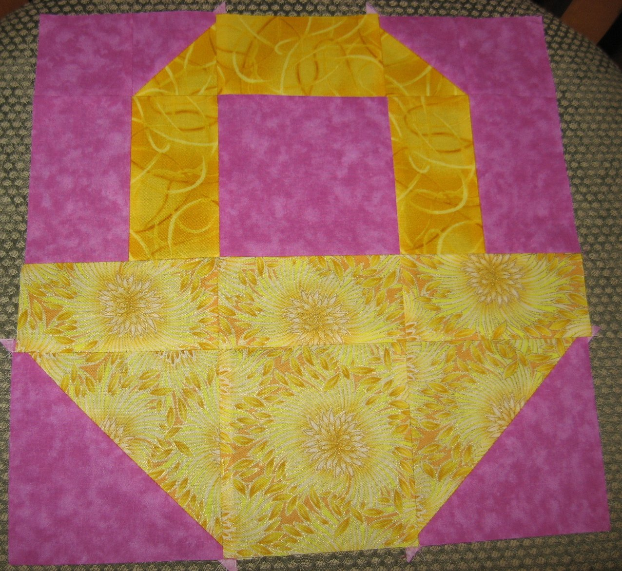 Hooked on Needles: Layer Cake Quilt-Along Block 3