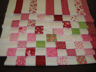 Strip sets for Postage Stamp Quilt Along