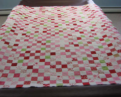 Postage Stamp Quilt Top Finished!
