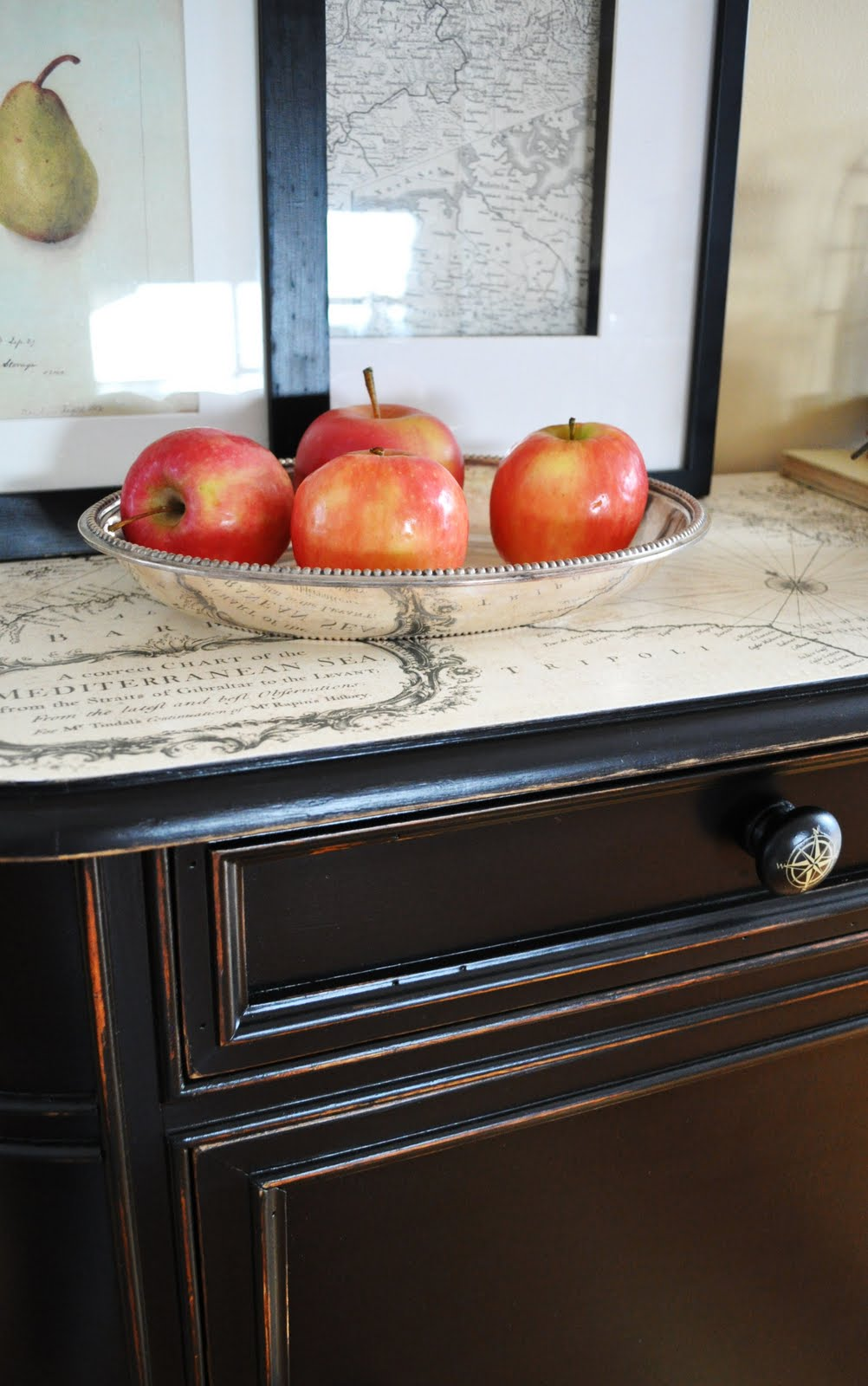 Decoupage Kitchen Cabinets Decoupage A Table With Sheet Music Decoupage Kitchen Table