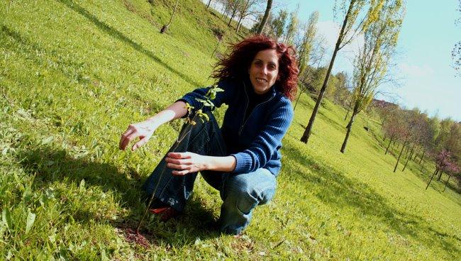 con mi recién plantado roble