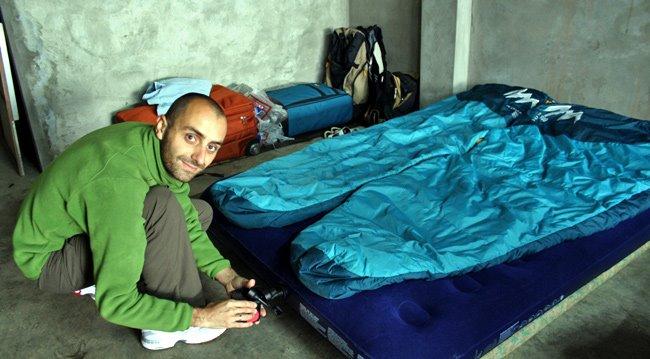 asier rehinchando los colchones