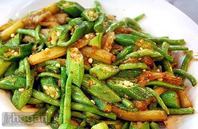 Malaysian 4 type vegetable dish