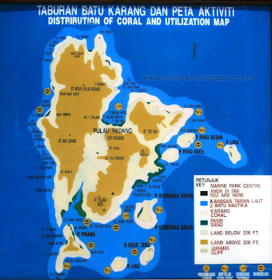 Redang Island Marine Park map
