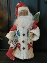 Small Santa in Quilted Coat