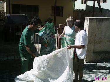 Coleta dos materiais recicláveis