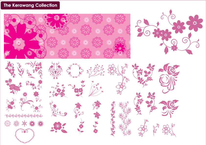 Pin Corak Bunga Kerawang Wallpaper Joy Studio Design Gallery Best on ...