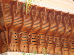 Carved wood work in teak