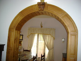 Arch between dining and living
