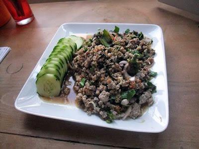 salade thaï de porc haché