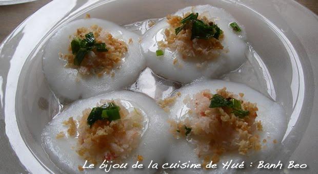 Banh beo - galettes de riz vapeur au coton de crevettes