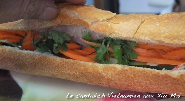 Sandwich vietnamien - la baguette doit croustiller