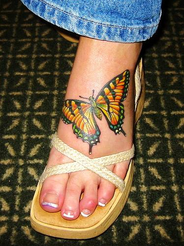 sub tattoos design butterfly foot tattoos. Black Bedroom Furniture Sets. Home Design Ideas