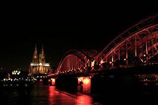 ライン川に架かるホーエン・ツォレルン橋