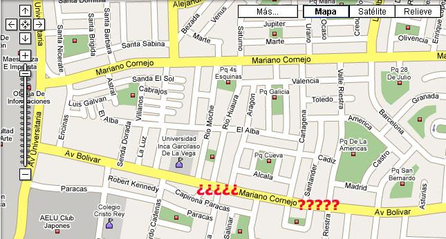 denunciar robos en Lima y Callao utilizando servicio de Google Maps