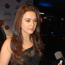 Preity Zinta in Black Saree Cute Photos