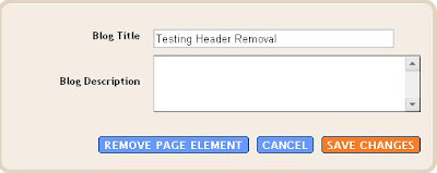 Page Element: text header removal