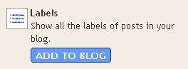 Blogger Label List Page Element