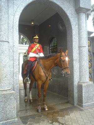 Malaysia's Palace Guard on horseback