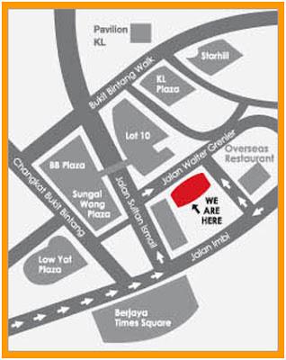 map to Coronade Hotel Kuala Lumpur