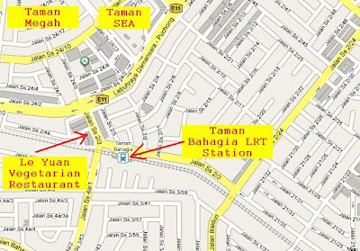 map Taman Bahagia LRT Station