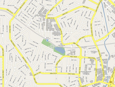location map Taman Jaya Section 14